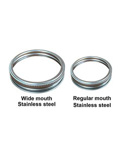 Mason Jar Bands - Ringen RVS 4 st. in 2 maten