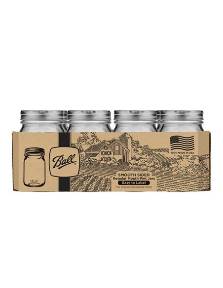Ball | Mason Jar Smooth 16 oz Regular - 1 stuks