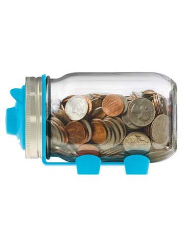 JarWare | Piggy Bank Blue Regular Mouth