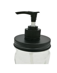 Mason Jar Zeeppomp Kit Black