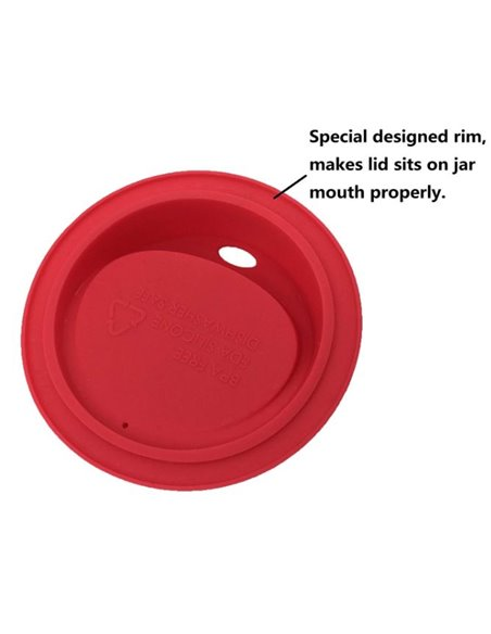 Mason Jar Drinkdeksel Oval Wide Mouth (1 stuks)