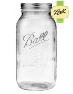 Ball | Mason Jar Wide Mouth Half Gallon jar 64 oz / 1960 ml (1 stuks)
