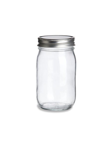 Mason Jar Smooth clear 16 oz - 12 stuks