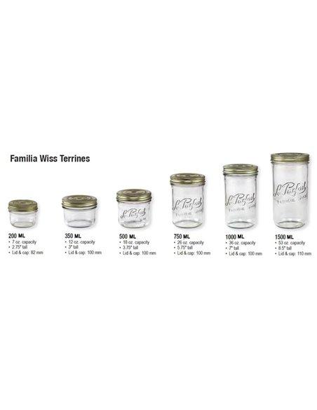 Le Parfait | Familia Wiss Terrines / Paté weckpot 200 ml (6 stuks)