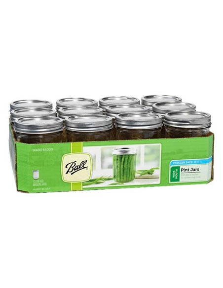 Ball | Mason Jars Wide Mouth Pint 16 oz / 475 ml (1 stuks)