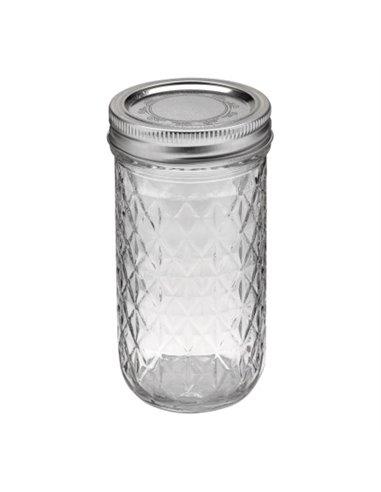 Ball | Mason Jar Regular Quilted Crystal 12 oz / 350 ml (1 stuks)