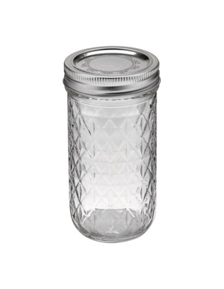 Ball | Mason Jar Regular Quilted Crystal 12 oz / 350 ml (1 stuks)