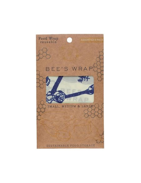 Bee's Wrap 3-pack Lunch wraps Bears&Bees