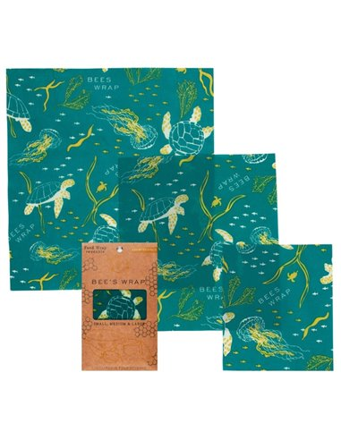 Bee's Wrap 3-pack Assorted wraps Ocean