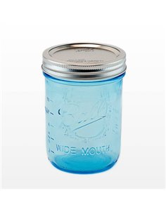 Ball | Mason Jar Elite BLUE 16 oz / 475 ml Wide Mouth (4 stuks)