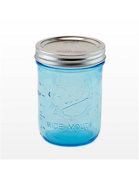 Ball | Mason Jar Elite BLUE 16 oz / 475 ml Wide Mouth (4 stuks)