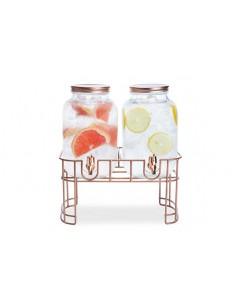 Cosy & Trendy | Mason Jar Sapdispenser set met voet 2 x 4 L