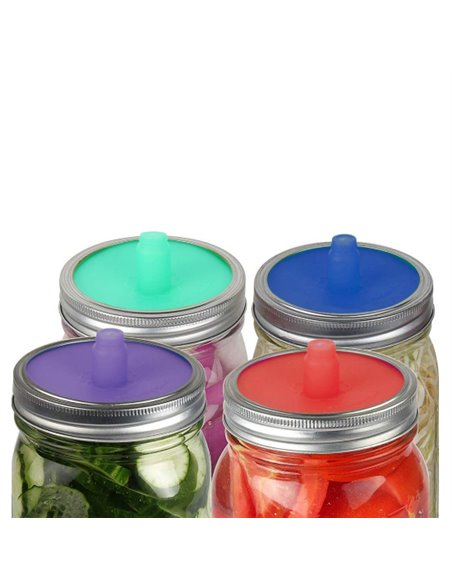 Mason Jar Fermentatiedeksels WIDE Mouth (4 stuks)