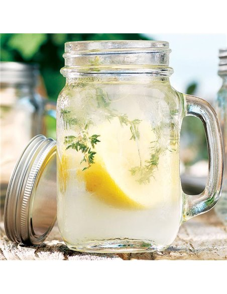 Mason Jar Smooth clear Drinkbeker 16 oz - 1 stuks