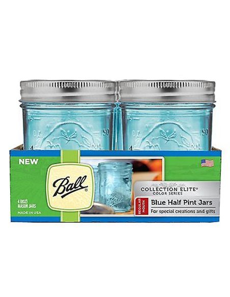 Ball | Mason Jar Elite BLUE 8 oz / 240 ml Regular Mouth (1 stuks)