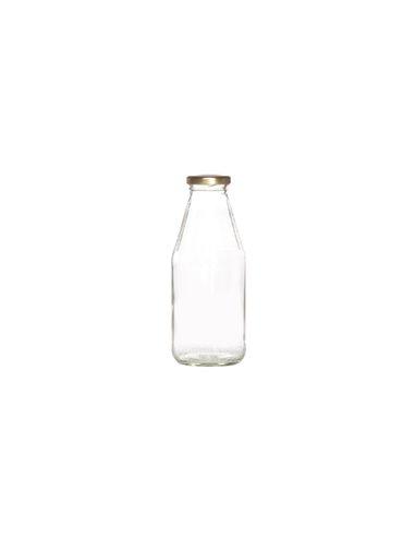 Retro Melkflesjes incl. gouden dop 750 ml 1 st.