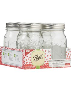 Ball | Mason Jar Fermentatie Kit WIDE Mouth (2 sets - 4 pcs)