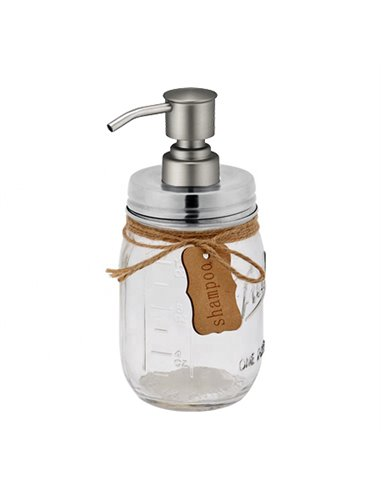 Mason Jar Zeeppomp met deksel RVS - Bird Head