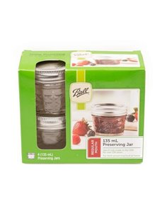 Ball | Mason Jar Regular Quilted Crystal 135 ml (4 stuks)