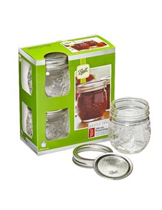 Ball | Mason Elite Jam Jar 8 oz / 240 ml Regular Mouth (4 stuks)