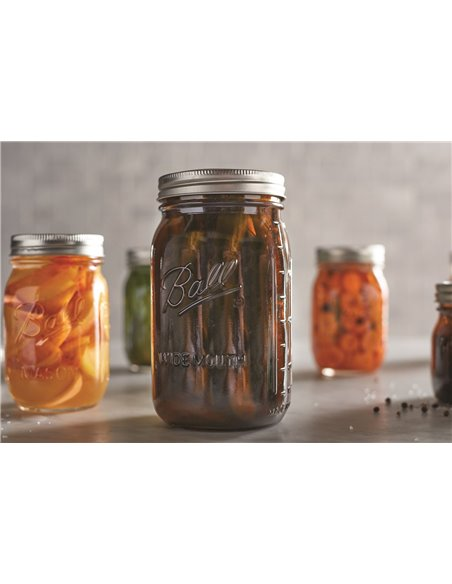 Ball | Mason Jar Elite AMBER 32 oz / 945 ml Wide Mouth (4 stuks)