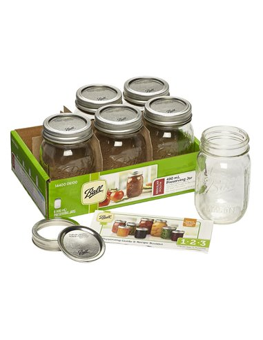 Ball | Mason Jar Regular Mouth 16 oz / 475 ml (6 pack)