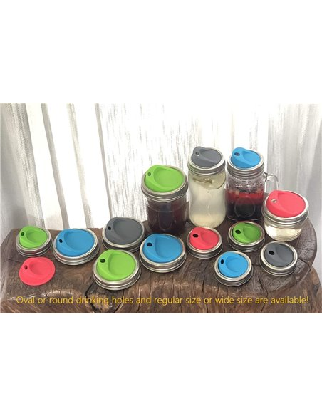 Mason Jar Drinkdeksel WIDE Mouth (2 stuks)