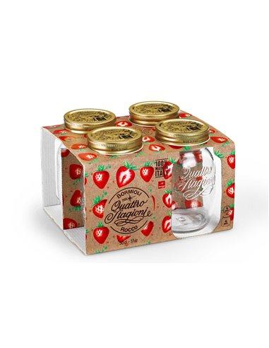 Bormioli Rocco | Quattro Stagioni Weckpot RM 500 ml Giftbox (4 stuks)