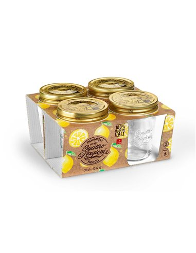 Bormioli Rocco | Quattro Stagioni Weckpot WM 320 ml Giftbox (4 stuks)