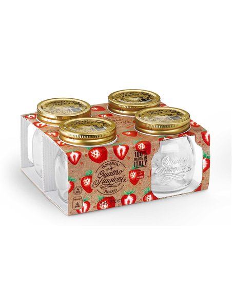 Bormioli Rocco | Quattro Stagioni Weckpot RM 250 ml Giftbox (4 stuks)
