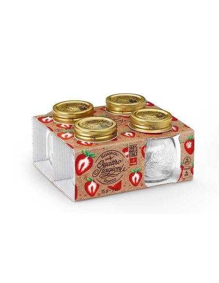 Bormioli Rocco | Quattro Stagioni Weckpot SM 150 ml Giftbox (4 stuks)