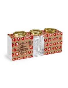 Bormioli Rocco | Quattro Stagioni Weckpot WM 1 L Giftbox (3 stuks)