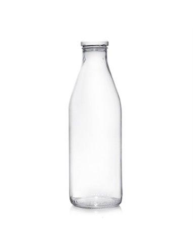 Retro Melkfles incl. witte dop 1 L