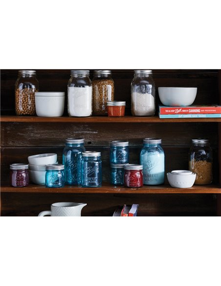 Ball   Mason Jar Collector's Edition Regular Mouth 8 oz Aqua Vintage (4 pack)