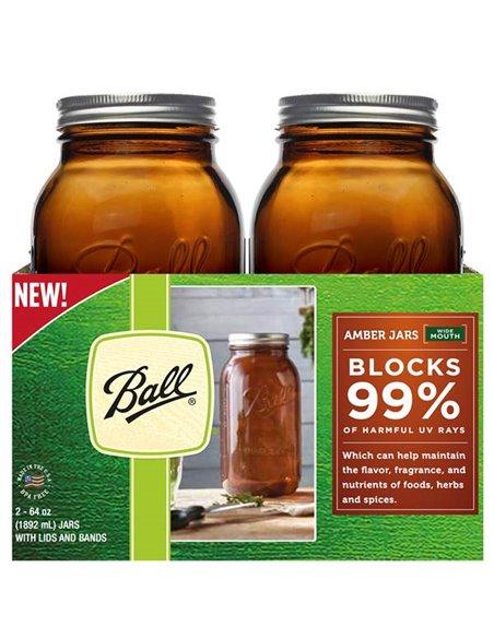 Ball | Mason Jar Elite AMBER 64 oz / 1,9 L Wide Mouth (1 stuks)