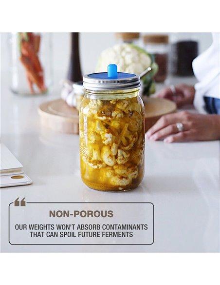Masontops | Pickle Pebble Fermentation Weights (4 pack)