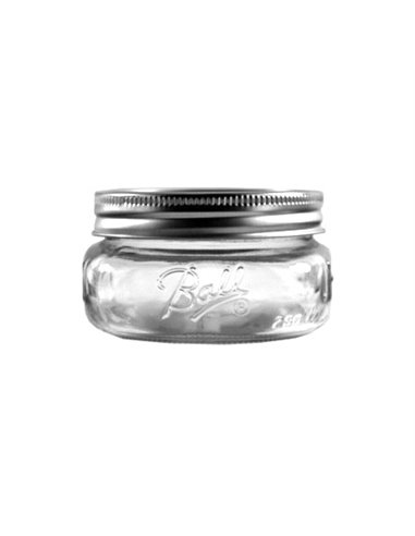 Ball | Mason Jar Elite Ball 8 oz / 240 ml Wide Mouth (4 pack)