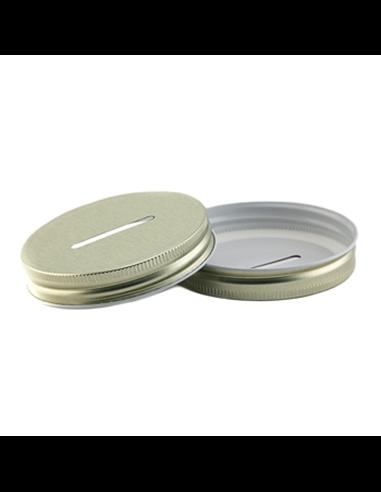 Mason Jar Coin / Bank Deksel Gold Wide Mouth
