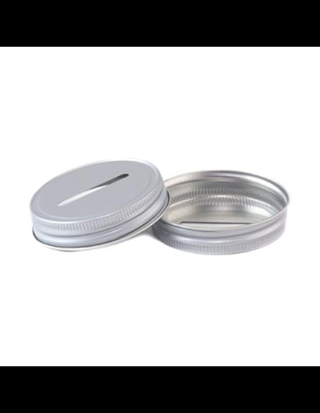 Mason Jar Coin / Bank Deksel-Grijs
