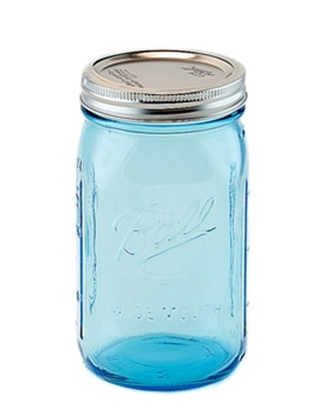 Ball | Mason Jar Elite BLUE 32 oz / 940 ml Wide Mouth (4 stuks)