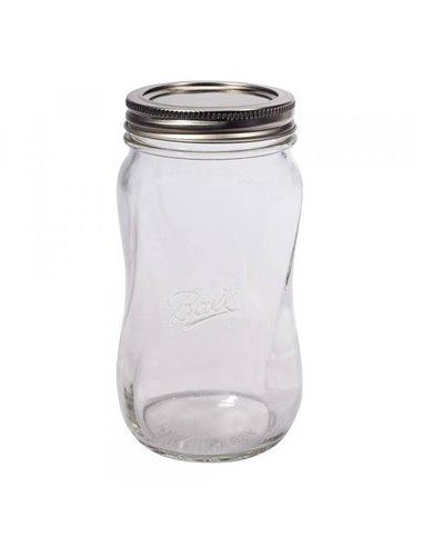 Ball | Mason Jar Elite SPIRAL 28 oz / 850 ml Wide Mouth (4 stuks)