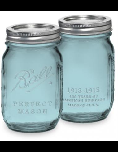 Ball | Mason Jar Heritage Blue Regular Mouth pint 16oz / 475 ml (1 stuks)