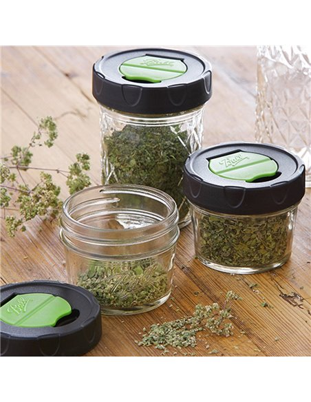 Ball | Mason Jar Kruidenpotjes dry herb Regular 4 oz / 125 ml (4 stuks)