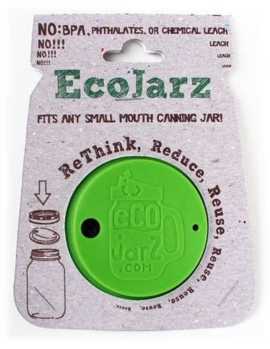 EcoJarz | Silicone Drink Top Apple Green - Regular