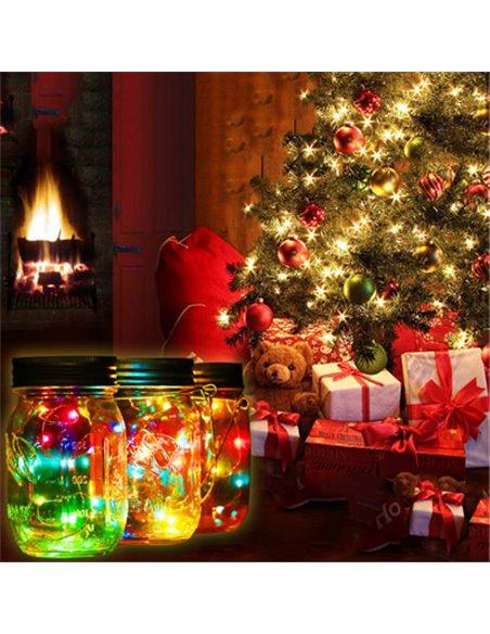 Mason Jar Deksel Regular LED light Color 1 st.