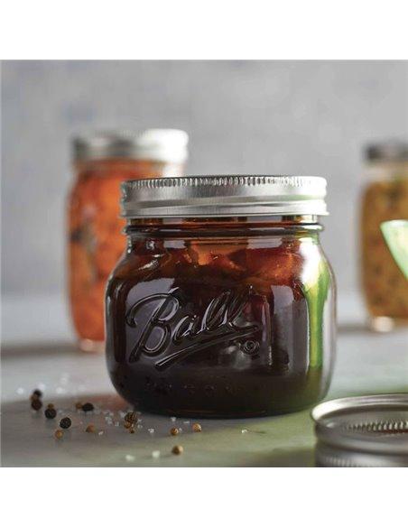 Ball | Mason Jar Elite AMBER 16 oz / 475 ml Wide Mouth (1 stuks)