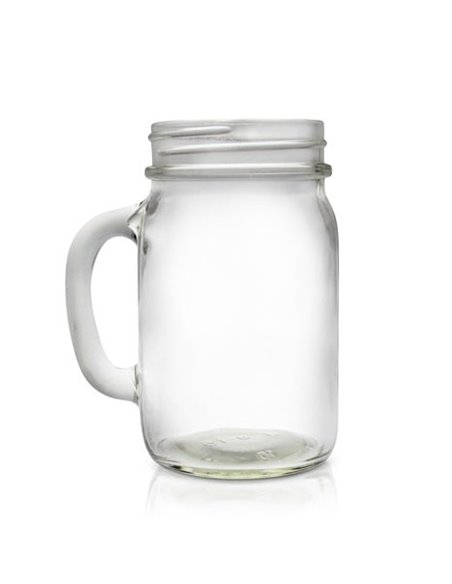 Mason Jar ECO clear Drinkbeker 16 oz - 1 stuks