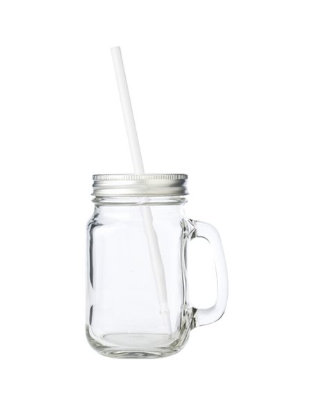 Mason Jar Drinkbekermét Deksel en Rietje - Regular 16 oz / 475 ml (1 stuks)