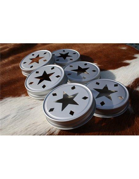 Mason Jar Deksel Star Regular aluminium 1 st.