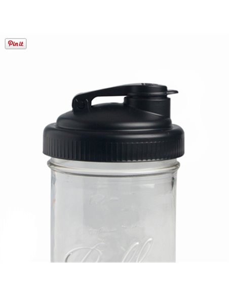 reCAP | Mason Jar Flip Cap White - Regular